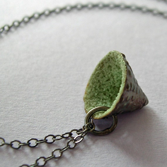 Celadon Cone Necklace