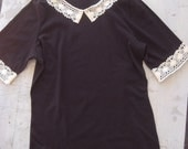 Sale Anais Summer Schoolgirl Top- Black