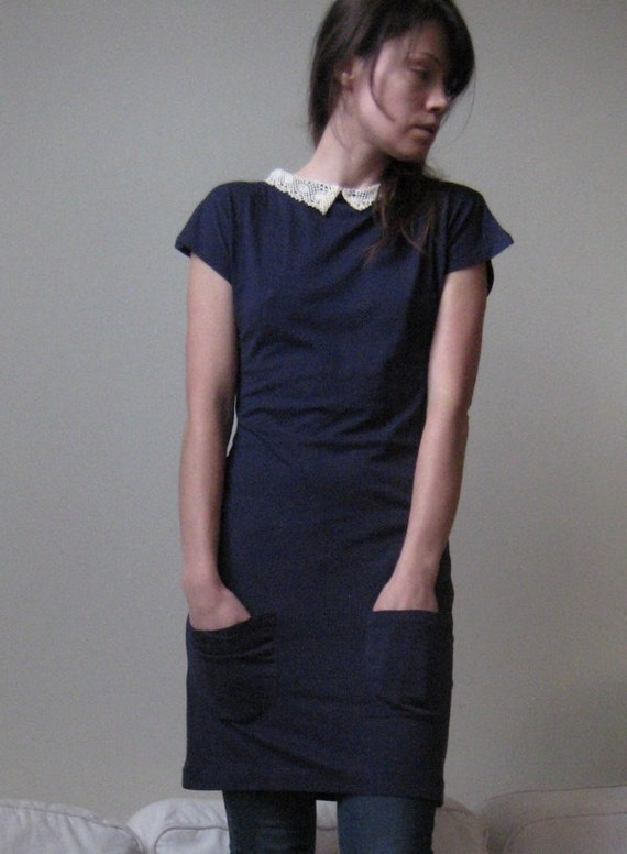ON SALE Anais School Girl Dress - Navy In Stock -Ready to ship