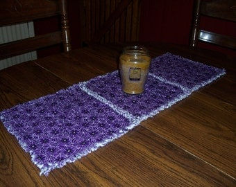Halloween spider table runner