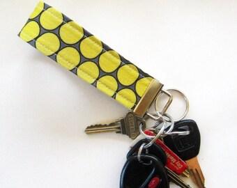 Key Fob in Gray and Yellow Huevos
