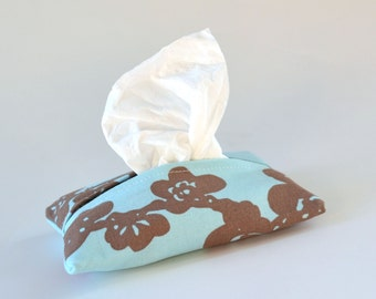 Tissue Case, Travel Sized Holder, Cherry Blossoms