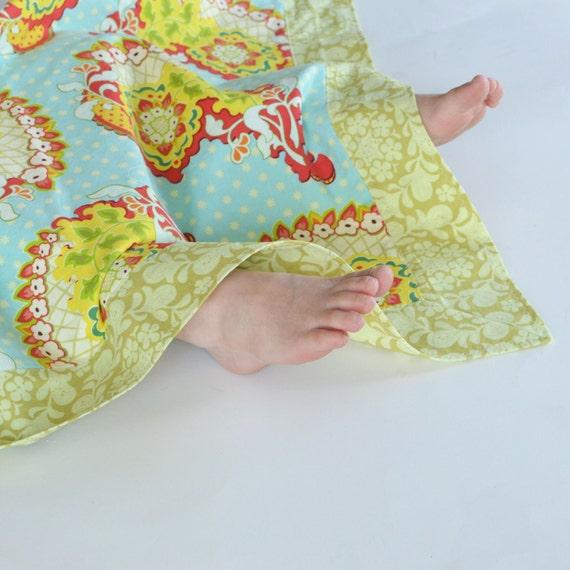 Summer Cotton Baby Girl Blanket, Pop Garden