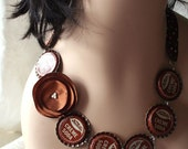 Bottle Cap Headband/Necklace, Brown