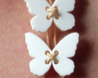 White butterfly necklace
