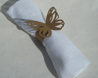 Bespoke order for Heatherjjolly1 140 Butterfly Wedding napkin rings