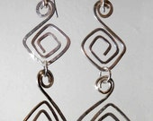 Double Squares Dangle Earrings