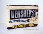 Fused Plastic Zipper Pouch Makeup Bag - Hershes Chocolate Cookies N Cream