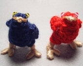 Chocobo Chicks, dark blue and red