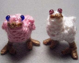 Chocobo Chicks, pink and white