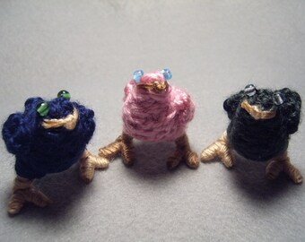 Chocobo Chicks, dark blue, pink, and dark green