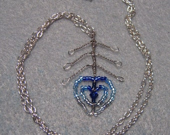 Ice Phoenix Down Necklace