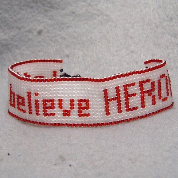 "Tiger & Bunny-Inspired ""Let's believe HEROES"" Bracelet"