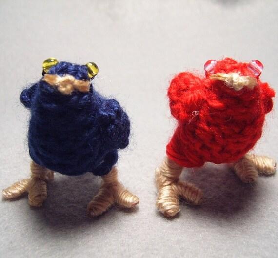 Chocobo Chicks, dark blue and red