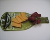 melted wine bottle/cheese tray