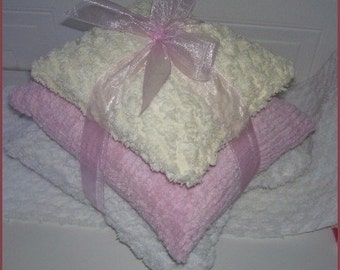 PASTEL CHENILE PILLOWS - TRIO (3)