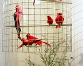 ruby red birdcage chandelier
