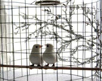 lovey dovey birdcage chandelier