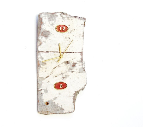 Room with a View Clock - Driftwood and Brass