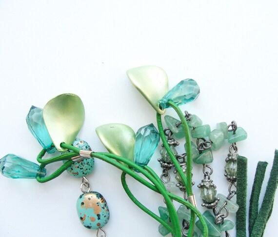 Moss Green Keychain / Bag Ring