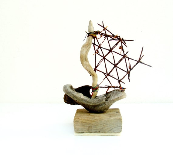 Life is a Journey - Driftwood Boat