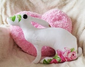 Mother Hare Heart              Soft Sculpture who has always been shy, infact shier than shy, though she is a little braver now