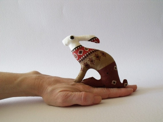 the totem Hare            Baby Hare tiny Ornament Soft Sculpture companion for you