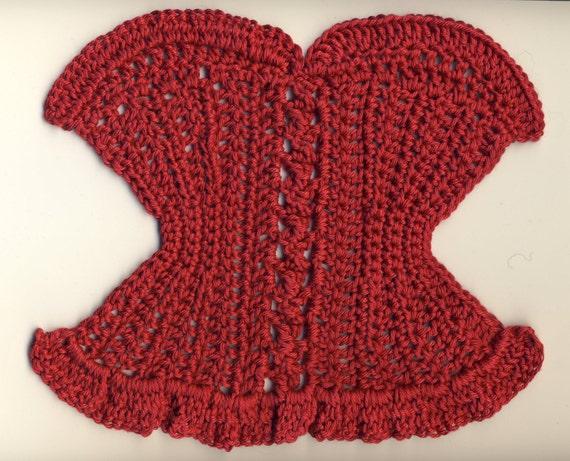 Lady Marmalade washcloth crochet pattern PDF