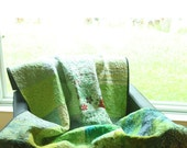 Quilt - green grass - ready to ship