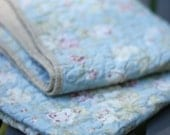 Quilt -  baby quilt, accent, or throw - Sea Rose