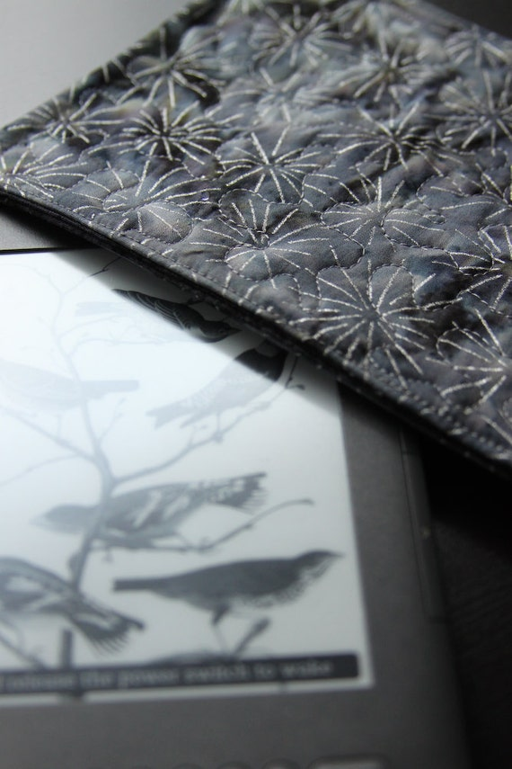 SALE - Kindle Sleeve for the Kindle Fire or Kindle Keyboard - spangle gray