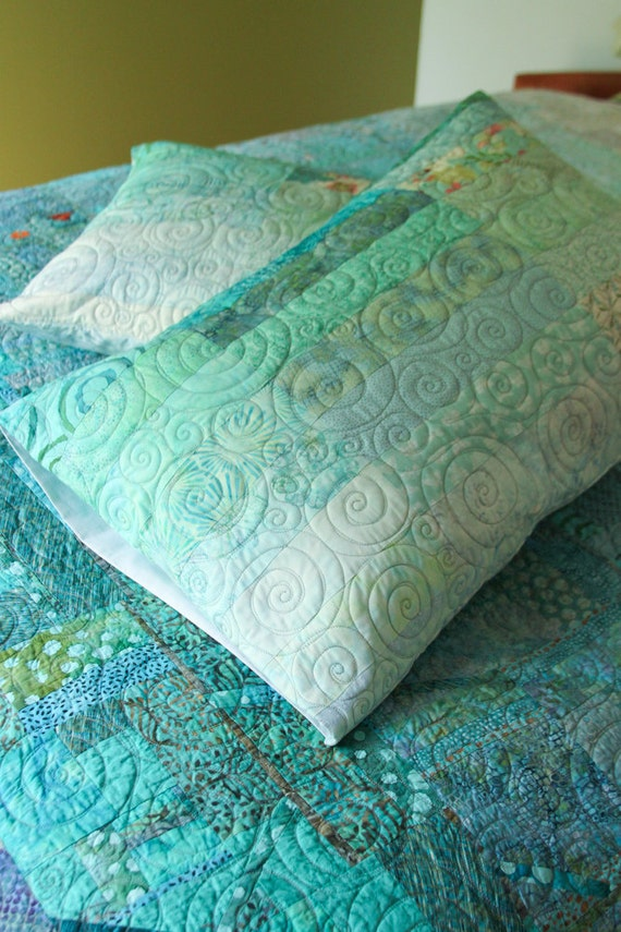 Custom Quilt Order - For Tina Enck - two standard pillow shams