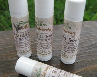 Mandarin Rose Beeswax Lip Balm - 0.15 oz tube -Ships FREE with another item