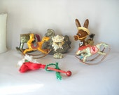 Craft Pack Horses Donkey Carousel Rocking Horse Supplies Assemblage Supplies