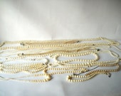 Vintage Jewelry Lot Faux Pearl Necklaces Pearl Strands 1 Pound of Jewelry