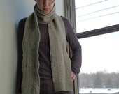 Recycled Gray Cashmere Scarf