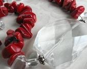 Coral and Quartz Signature Necklace