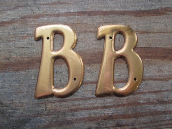 Small Vintage Brass Uppercase Letter B Dead Stock