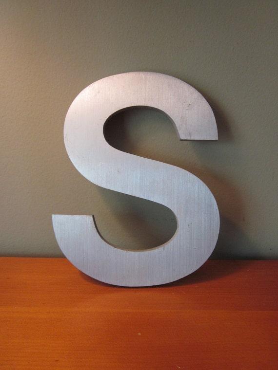 Vintage Aluminum Letter Uppercase S