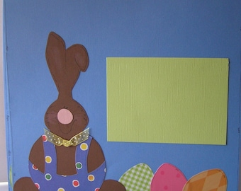 Easter Paper Pieced Scrapbook Pages