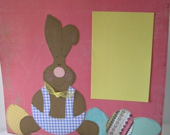 Easter Paper Pieced Scrapbook Pages- Pink