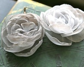 Roses Gray Hair Flowers Bobbies Hair Clips