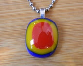 Hot Dog On A Stick Love - Made in Los Angeles - Fused Glass Jewelry