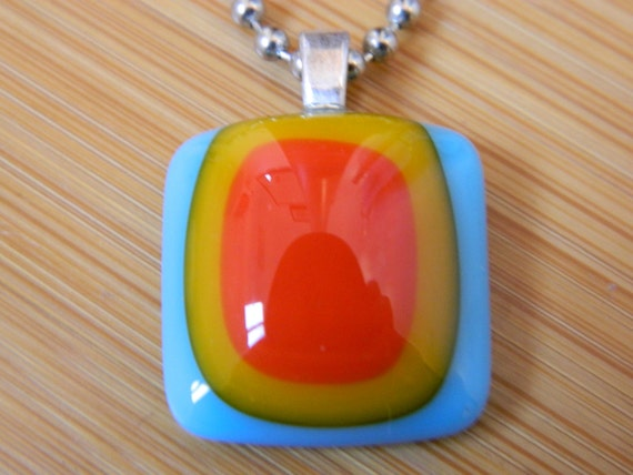 Blue Sky Love - Made In Los Angeles - Fused Glass Jewelry