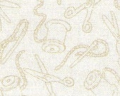 Two Yards Scissors in Cream Background Fabric