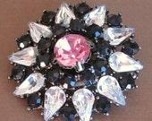 MARKDOWN Vintage, Brooch, Pin, Rhinestones, Crystals, Wedding, www.jodaycraf.etsy.com