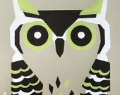 horned owl limited edition print
