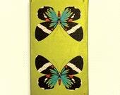 blue moth tea towel