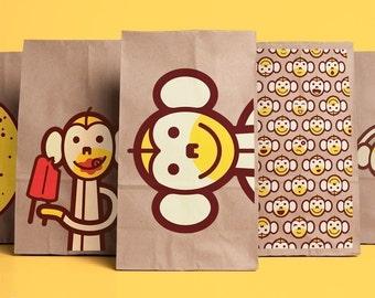 monkey snack sacks