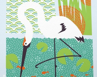 whooping crane limited edition print